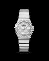 Omega Constellation  Quartz Women's Watch, 18K White Gold, Diamond Pave Dial, 123.55.27.60.99.001