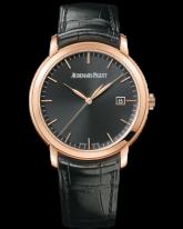 Audemars Piguet Jules Audemars  Automatic Men's Watch, 18K Rose Gold, Black Dial, 15170OR.OO.A002CR.01