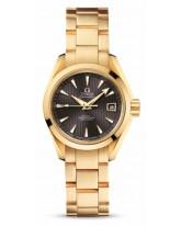 Omega Aqua Terra  Automatic Women's Watch, 18K Yellow Gold, Grey Dial, 231.50.30.20.06.002