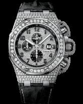 Audemars Piguet Royal Oak Offshore  Chronograph Automatic Men's Watch, 18K White Gold, Diamond Dial, 26215BC.ZZ.A101CR.01