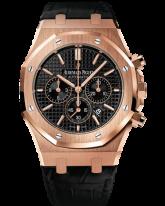 Audemars Piguet Royal Oak  Chronograph Automatic Men's Watch, 18K Rose Gold, Black Dial, 26320OR.OO.D002CR.01