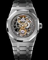Audemars Piguet Royal Oak Limited Edition Tourbillon Men's Watch, Platinum, Skeleton Dial, 26511PT.OO.1220PT.01