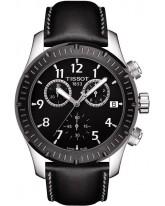 Tissot V8  Chronograph Quartz Men's Watch, Stainless Steel, Black Dial, T039.417.26.057.00