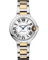 Cartier Ballon Bleu  Automatic Women's Watch, Stainless Steel, Silver Dial, W2BB0002