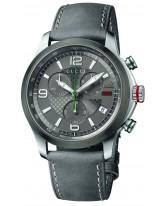 Gucci G-Timeless  Chronograph Quartz Men's Watch, Stainless Steel, Gray Dial, YA126242