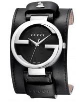 Gucci Interlocking  Quartz Men's Watch, Stainless Steel, Black Dial, YA133201