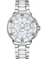 Tag Heuer Formula 1  Chronograph Quartz Women's Watch, Stainless Steel, White & Diamond Dial, CAH1213.BA0863