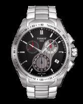 Tissot Veloci-T  Chronograph Quartz Men's Watch, Stainless Steel, Black Dial, T024.417.11.051.00
