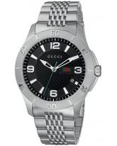 Gucci G-Timeless  Quartz Men's Watch, Stainless Steel, Black Dial, YA126218