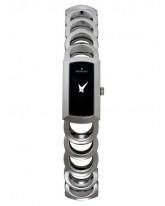 Movado Rondiro  Quartz Women's Watch, Stainless Steel, Black Dial, 0605964