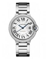 Cartier Ballon Bleu  Automatic Women's Watch, 18K White Gold, Silver Dial, WE9006Z3