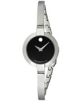 Movado Bela  Quartz Women's Watch, Stainless Steel, Black Dial, 0605853