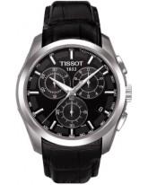 Tissot Couturier  Chronograph Quartz Men's Watch, Stainless Steel, Black Dial, T035.617.16.051.00