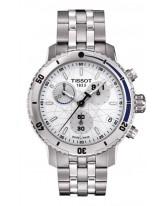 Tissot PRS200  Chronograph Quartz Men's Watch, Stainless Steel, White Dial, T067.417.11.011.00