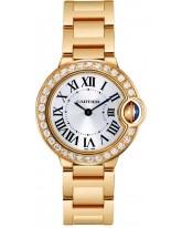 Cartier Ballon Bleu  Quartz Women's Watch, 18K Yellow Gold, Silver Dial, WE9001Z3