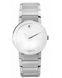 Movado Sapphire  Quartz Men's Watch, Stainless Steel, Silver Dial, 606093