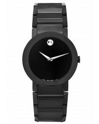Movado Luno  Quartz Men's Watch, Stainless Steel, Black Dial, 606307