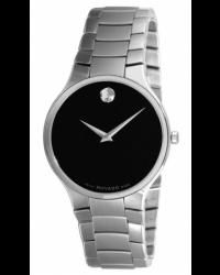 Movado Serio  Quartz Men's Watch, Stainless Steel, Black Dial, 606382