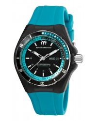 Technomarine   Quartz Men's Watch, Rubber & Stainless Steel, Black Dial, 110014