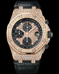 Audemars Piguet Royal Oak Offshore  Chronograph Automatic Men's Watch, 18K Rose Gold, Diamond Pave Dial, 26067OR.ZZ.D002CR.01