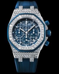 Audemars Piguet Royal Oak Offshore  Chronograph Automatic Women's Watch, 18K White Gold, Blue Dial, 26092CK.ZZ.D021CA.01