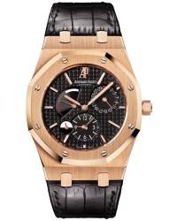 Audemars Piguet Royal Oak  Dual Time Automatic Men's Watch, 18K Rose Gold, Black Dial, 26120OR.OO.D002CR.01