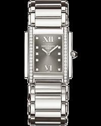 Patek Philippe Twenty 4  Quartz Women's Watch, Stainless Steel, Grey & Diamonds Dial, 4910/10A-010