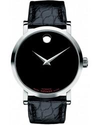 Movado Museum  Quartz Men's Watch, Stainless Steel, Black Dial, 606112