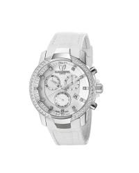 Technomarine   Chronograph Quartz Women's Watch, Stainless Steel, White Mother Of Pearl Dial, 609013