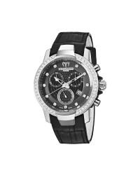 Technomarine   Chronograph Quartz Women's Watch, Stainless Steel, Black Dial, 609014