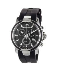 Technomarine   Chronograph Quartz Women's Watch, Stainless Steel, Black Dial, 610008