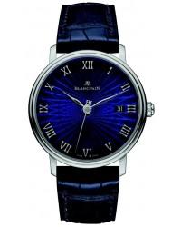 Blancpain Villeret  Automatic Men's Watch, 18K White Gold, Blue Dial, 6223C-1529-55A