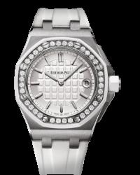 Audemars Piguet Royal Oak  Quartz Women's Watch, Stainless Steel, White Dial, 67540SK.ZZ.A010CA.01