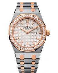 Audemars Piguet Royal Oak  Quartz Women's Watch, Steel & 18K Rose Gold, Silver Dial, 67651SR.ZZ.1261SR.01