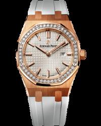 Audemars Piguet Royal Oak  Quartz Women's Watch, 18K Rose Gold, Silver Dial, 67651OR.ZZ.D010CA.01