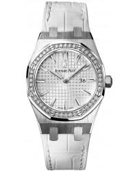Audemars Piguet Royal Oak  Quartz Women's Watch, Stainless Steel, Silver Dial, 67651ST.ZZ.D011CR.01