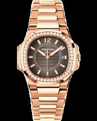 Patek Philippe Nautilus  Quartz Women's Watch, 18K Rose Gold, Anthracite Dial, 7010/1R-010