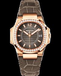 Patek Philippe Nautilus  Quartz Women's Watch, 18K Rose Gold, Anthracite Dial, 7010R-010