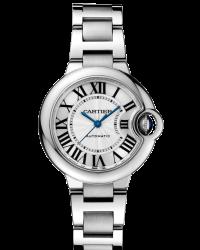 Cartier Ballon Bleu  Automatic Women's Watch, Stainless Steel, Silver Dial, W6920071