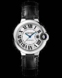 Cartier Ballon Bleu  Automatic Women's Watch, Stainless Steel, Silver Dial, W6920085
