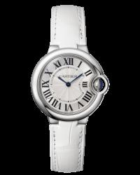 Cartier Ballon Bleu  Quartz Women's Watch, Stainless Steel, Silver Dial, W6920086