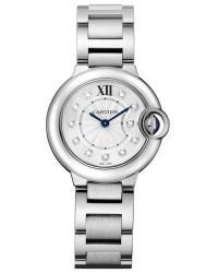 Cartier Ballon Bleu  Quartz Women's Watch, Stainless Steel, Silver Dial, WE902073