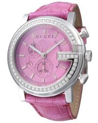 Gucci G-Chrono  Chronograph Quartz Women's Watch, Stainless Steel, Pink Dial, YA101313