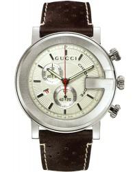 Gucci G-Chrono  Chronograph Quartz Men's Watch, Stainless Steel, White Dial, YA101312