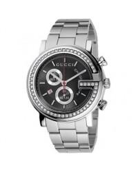Gucci G-Timeless  Chronograph Quartz Men's Watch, Stainless Steel, Black Dial, YA101324