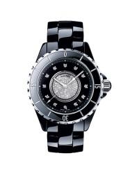 Chanel J12 Jewelry  Automatic Women's Watch, Ceramic, Black & Diamonds Dial, H1757