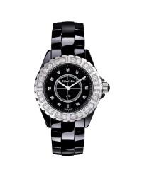 Chanel J12 Jewelry  Quartz Women's Watch, Ceramic, Black & Diamonds Dial, H2427