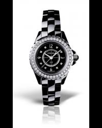 Chanel J12 Jewelry  Quartz Women's Watch, Ceramic, Black & Diamonds Dial, H2571