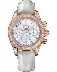 Omega De Ville  Chronograph Automatic Unisex Watch, 18K Rose Gold, White Dial, 422.58.35.50.05.001