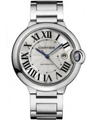Cartier Ballon Bleu  Automatic Men's Watch, Stainless Steel, Silver Dial, W69012Z4